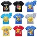 Pokemon Идут Команды детей Смешно тенниска мальчиков одежда Доблесть Мистик Инстинкт дети Футболки для мальчиков Хлопок Топы PokemonGo одежда