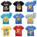 Pokemon Ir Equipo de niños Divertidos de la camiseta muchachos ropa Valor Místico Instinto para niños Camiseta para niños de Algodón Tops ropa PokemonGo