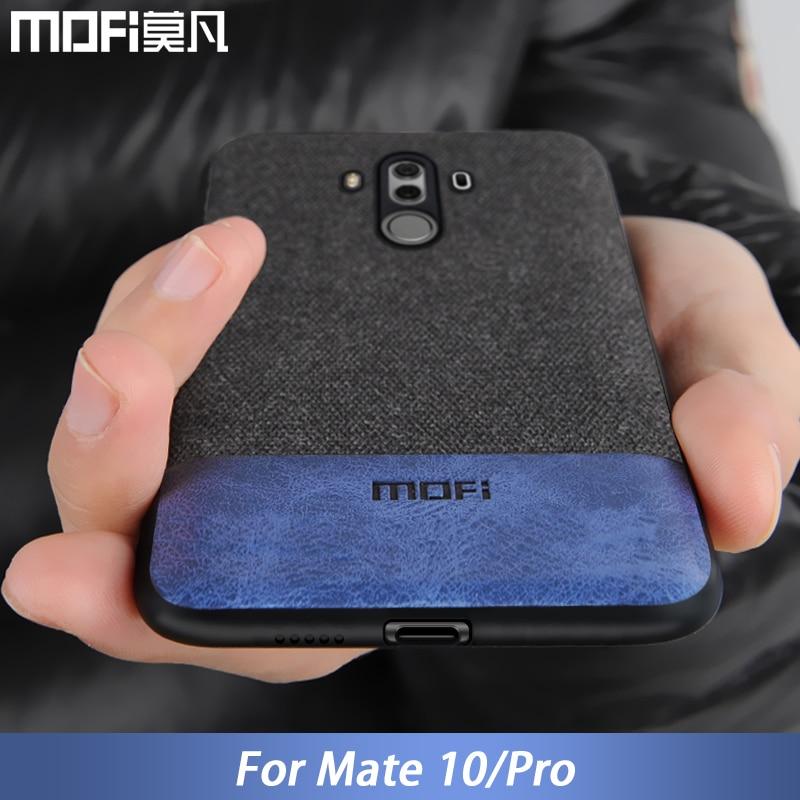 Huawei Mate 10 Pro housse de protection Mate10 Coque arrière Silicone bord souple antichoc affaires Coque Mofi Mate 10 Pro hommes étui 6.0