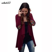 Hot Sale Women Coat Echo657 New Fashion Women Casual Long Sleeve Cardigans Patchwork Outwear Dec 14