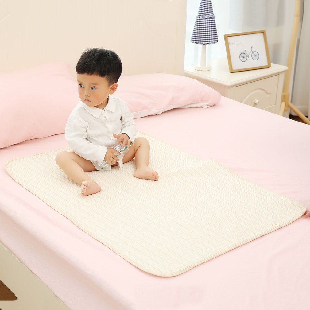 Waterproof Baby Cotton Urine Mat Diaper Nappy Bedding Changing Cover Pad Mattress Protector Baby Nappy Pad For Sleeping image