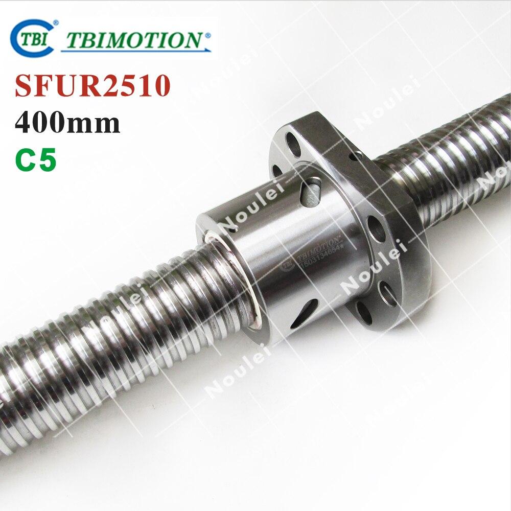 TBI Ballscrew  400mm SFUR 2510 C5 10mm lead with SFU2510 Ball nut for cnc kit горелка tbi sb 360 blackesg 3 м