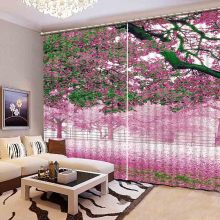 Newest 3D Elegant Blackout Curtains Lifelike Beautiful 3D Window Curtains Bedroom Living Room Drapes Cortinas De Sala CL-105