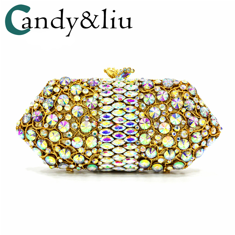 2017 new dinner bag high-quality classic luxury crystal beautiful bags custom evening dress bag diamond woman's bag day clutches evening bags 2018 european american high end crystal full evening bag luxury diamond foreign trade dinner bag hollow bag