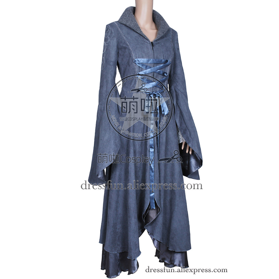 The Lord of the Rings Cosplay Arwen Costume New Coat Grey Dress Uniform Outfits Suit Halloween Fashion Party Fast Shipping