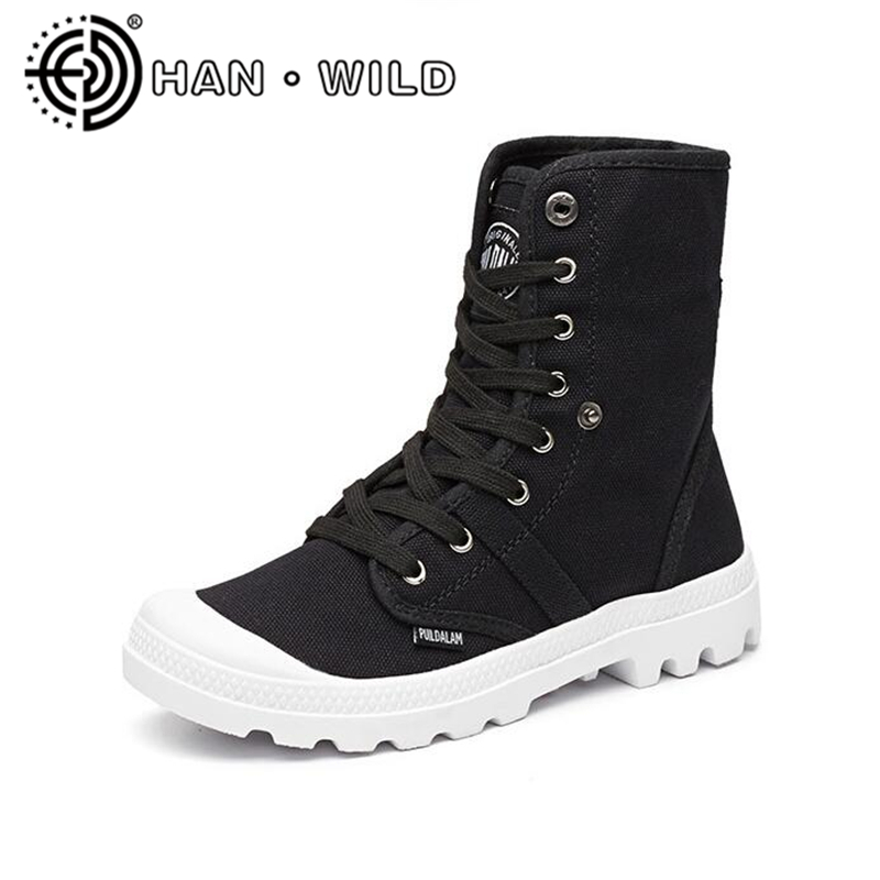 Womens Martin Boots New Spring Autumn Woman Platform Ankle Boots Breathable Canvas Marti ...