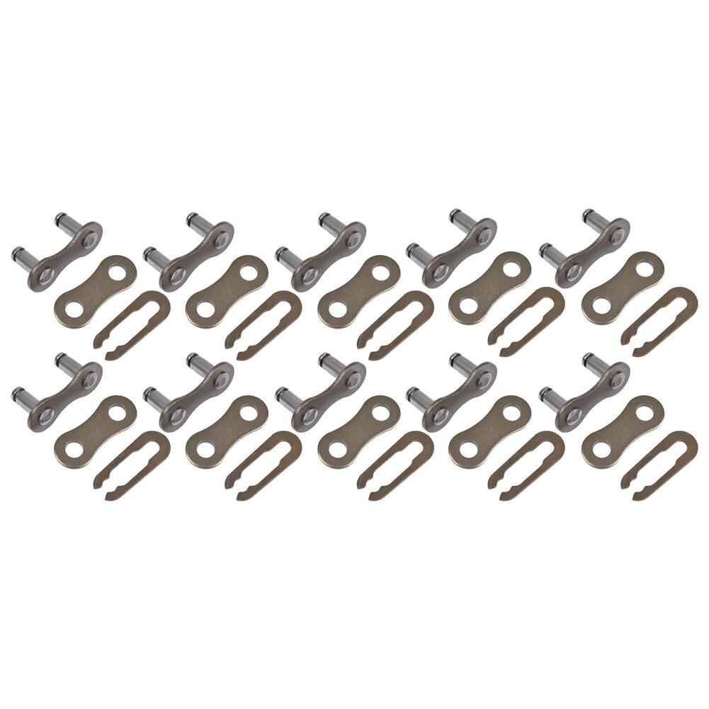 Купить с кэшбэком 10Pcs Bicycle Locks Bike Chain Lock Connector Single Speed Master Link Joint Parts Bicycle Accessories