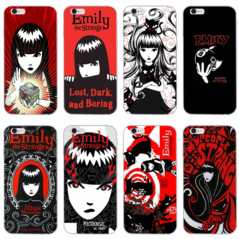 cartoon Emily The Strange slim silicone Soft phone case For Huawei ...