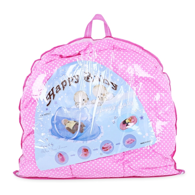 Cute Baby portable crib with Sealed Mosquito Net