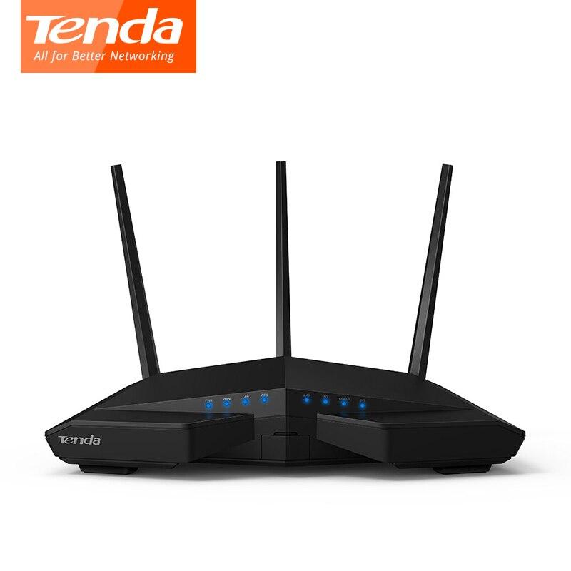Routeur wifi sans fil Tenda AC18 256 M DDR double cœur CPU 1WAN + 4LAN ports Gigabit répéteur WiFi double bande 11AC1900M Gigabit USB 3.0