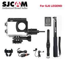Оригинальный SJCAM мотоцикл Водонепроницаемый чехол + Автомобильное зарядное устройство + микрофон + пульт часы + монопод + двойной зарядное устройство для SJ6 Легенда действие Камера