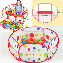 Six square color ball pool one meter Portable Folding Ocean play tent,outdoor&indoor fun sports baby educational toy game house