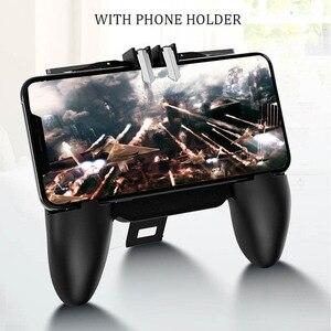 Image 5 - PBUG Mobile L1R1 shooter spiel controller mit kühler fan pubg joystick für telefon spiel halter pubg trigger konsole oyun konsolu