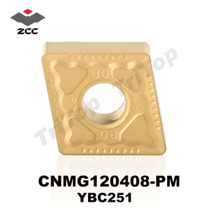 ZCC.CT YBC251 CNMG 120408 -PM turning inserts cutter for machining steel and stainless steel CNMG432 nagative inserts with hole