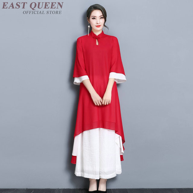 f0c36e376d Women summer dress 2018 casual loose elegance dress vestidos chinese market  online traditional chinese clothing AA3619 Y A