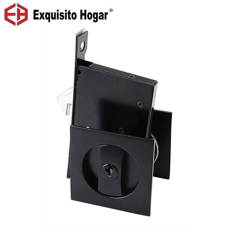 Safety Door Lock Indoor Room Lock Push  Pull Storehouse Cabinet Kitchen Toilet Invisible Door Hook Hardware With Keys