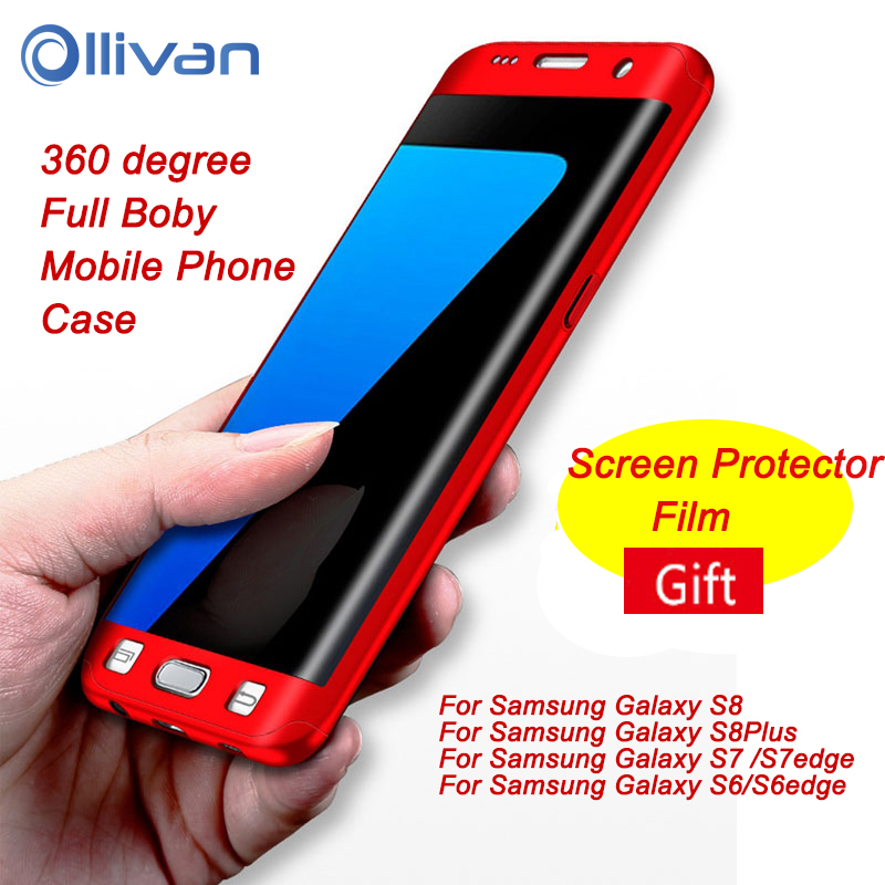 OLLIVAN S8 360 Degree Case For Samsung S8 S7 Plus S6 edge Case Shockproof Full Cover For Samsung Galaxy S8 Plus note 8 Case Capa