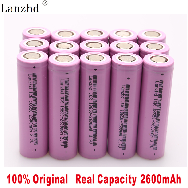 5-40Pcs ICR18650 Rechargeable Battery 2600mAh Lithium li ion Batteries 3.7V for samsung 18650 Flashlight notebook