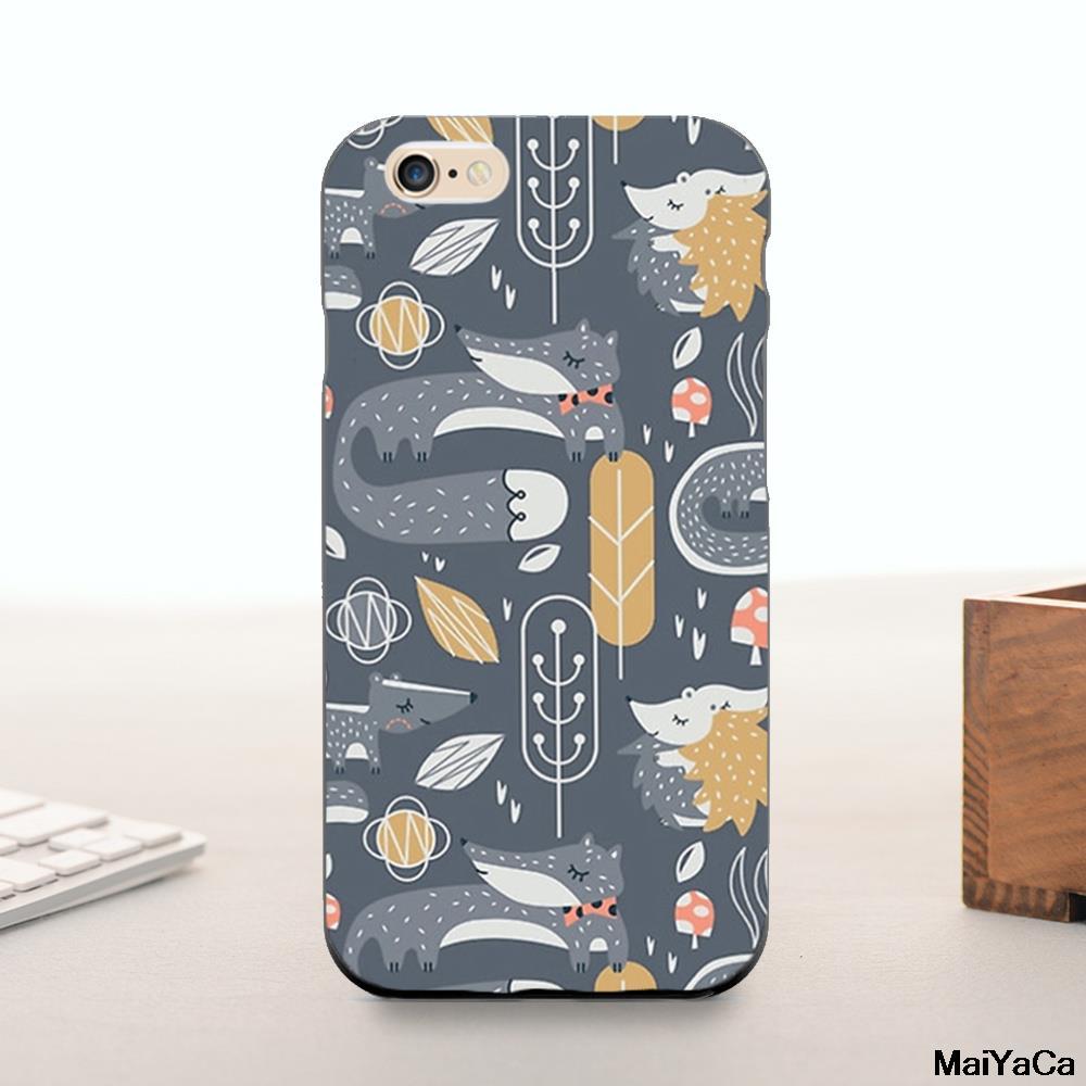 Maiyaca лес надлежащего Ежик Фокс лучшие друзья животные Хит продаж модные дизайнерские кожа тонкая ячейки для iPhone 6 6S случае