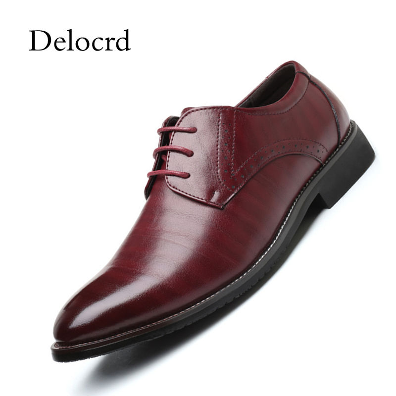 Plus Size 38-48 Men Classic Leather Oxford Shoes Lace Up Business Formal Elegant Male Footwear Pointed Toe Office Men Shoes hot sale mens genuine leather cow lace up male formal shoes dress shoes pointed toe footwear multi color plus size 37 44 yellow