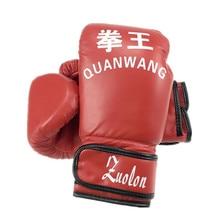 4cfb57ecb Muay thai pu luvas de boxe de couro para homens mulheres formação em mma  grant box luvas preto vermelho