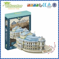 World Famous Architecture3D puzzle model Ukraine Buliding model Odessa Opera And Ballet Theatre DIY Puzzle Game Souvenir