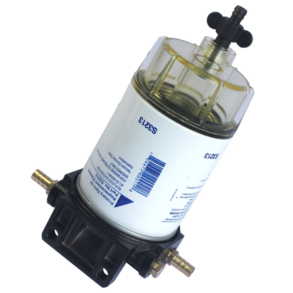 S3213 Fuel Water Separator S3213 ,35-60494-1 for Boat Fuel Filter Marine Engine (10 Micron)  for racor aluminum water cool flange fits 26 29cc qj zenoah rcmk cy gas engine for rc boat