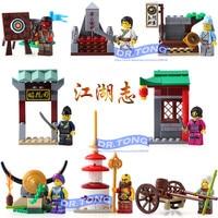 DR. טונג 80 יח'\חבילה 1504 חדשים להאיר דמויות גיבורי רומנטיקה אחד של סין שלוש הממלכות אביר המלך בניין צעצועים בלוקים