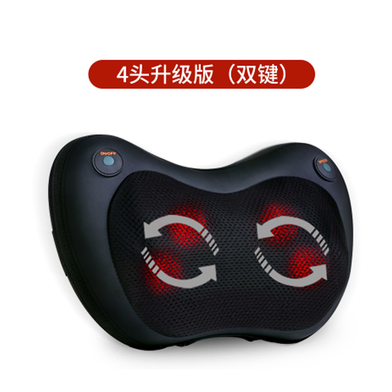 Cervical Vertebra Massager Rotation Heating Therapy Pillow 3d Kneading Masssage Cushion Electric Neck Shiatsu Massage Car Home electric massage pillow infrared heating kneading cervical neck shoulder auto shiatsu massager car use massage