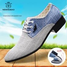Chaussures dété en toile pour hommes, chaussures Oxford pour hommes, de marque à la mode, mocassins chaussures décontractées, grande taille 45, collection à lacets