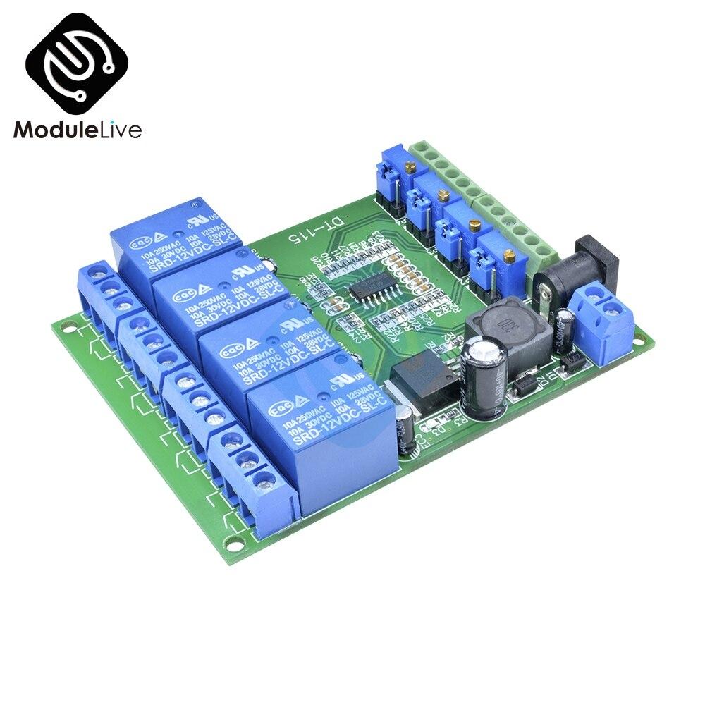1 Pcs Dc 12 V 200ma 4 Kanal Spannung Komparator Perfekte Lm393 Vergleich Modul Billigverkauf 50%