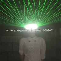 Модные светодиодные светящиеся зеленый лазерный Человек очки вечерние Рождество Хэллоуин очки для защиты от лазера для лазерного шоу