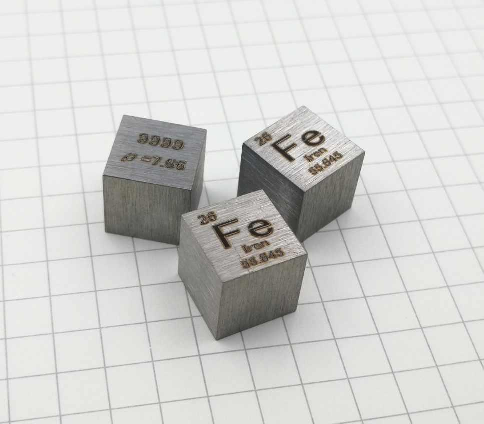 Metallic Antimony Sb Carved Element Periodic Table Cube 10mm