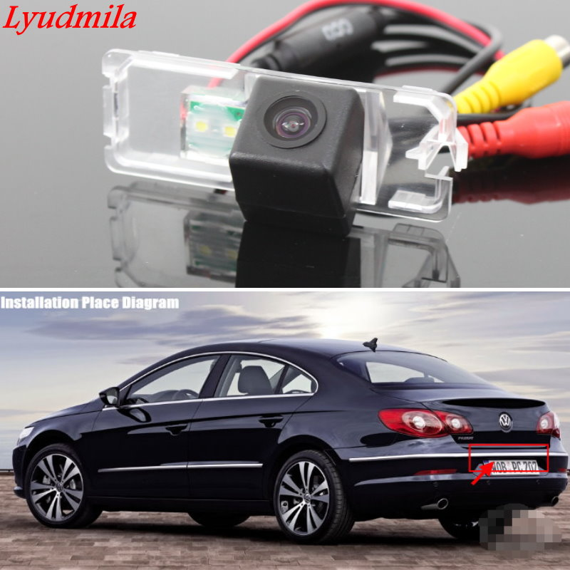 где купить Lyudmila Wireless Camera For Volkswagen VW Passat CC Jetta MK6 / Bora Car Rear view Camera HD CCD Night Vision / Back up Camera дешево