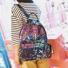 Waterproof Backpack Girl Bage Students Sequin Bag  Travel Teenagers Bags Women designer Outdoor