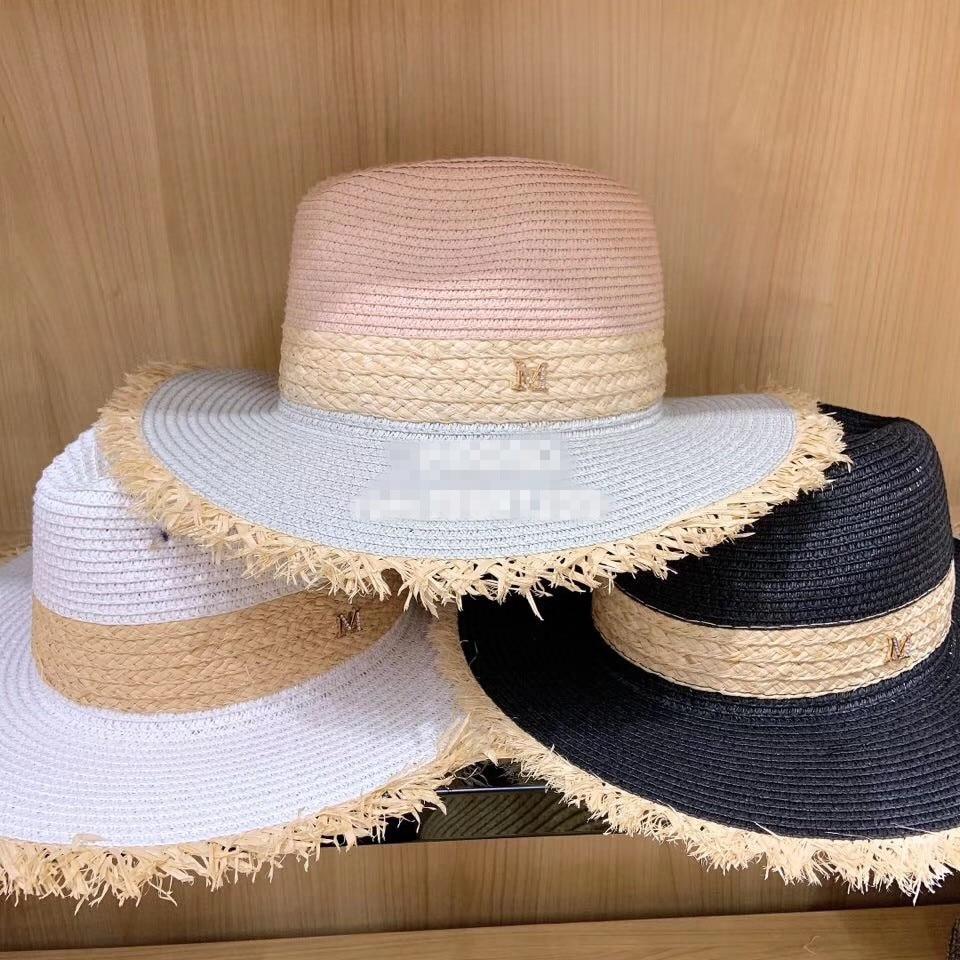 0d028b03f407fa 01903-pei27404 2019 new summer color patchwork lady fedoras cap men women  leisure holiday beach
