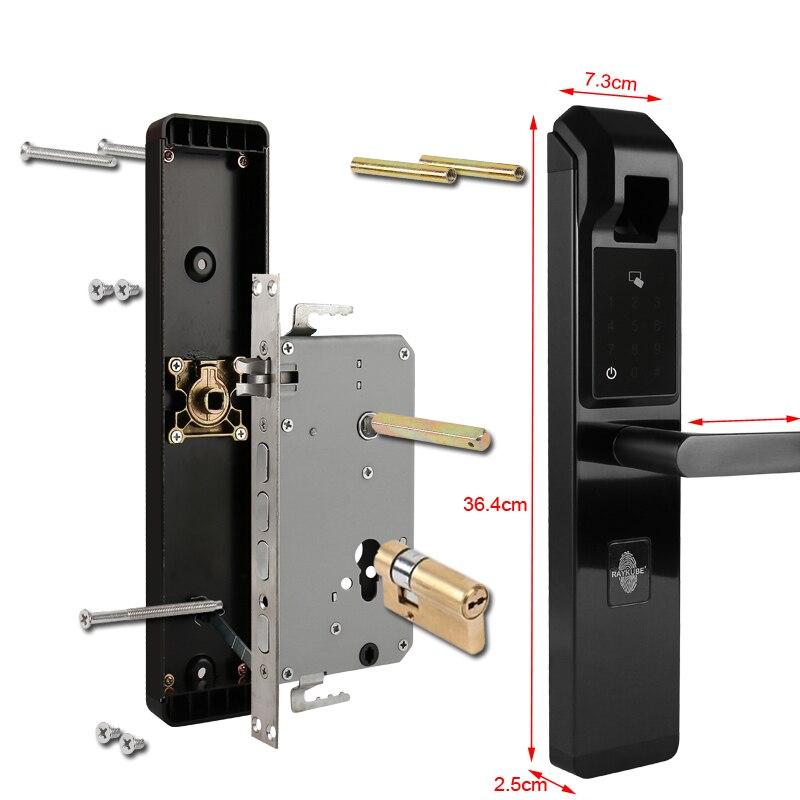 HTB1QpyNoMfH8KJjy1zcq6ATzpXao RAYKUBE Biometric Fingerprint Door Lock Intelligent Electronic Lock Fingerprint Verification With Password & RFID Unlock R-FZ3