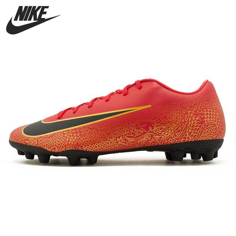 Original New Arrival 2018 NIKE VAPOR 12 ACADEMY CR7 AG-R Men's Football Shoes Soccer Shoes Sneakers nike бутсы мужские nike vapor 12 club cr7 mg