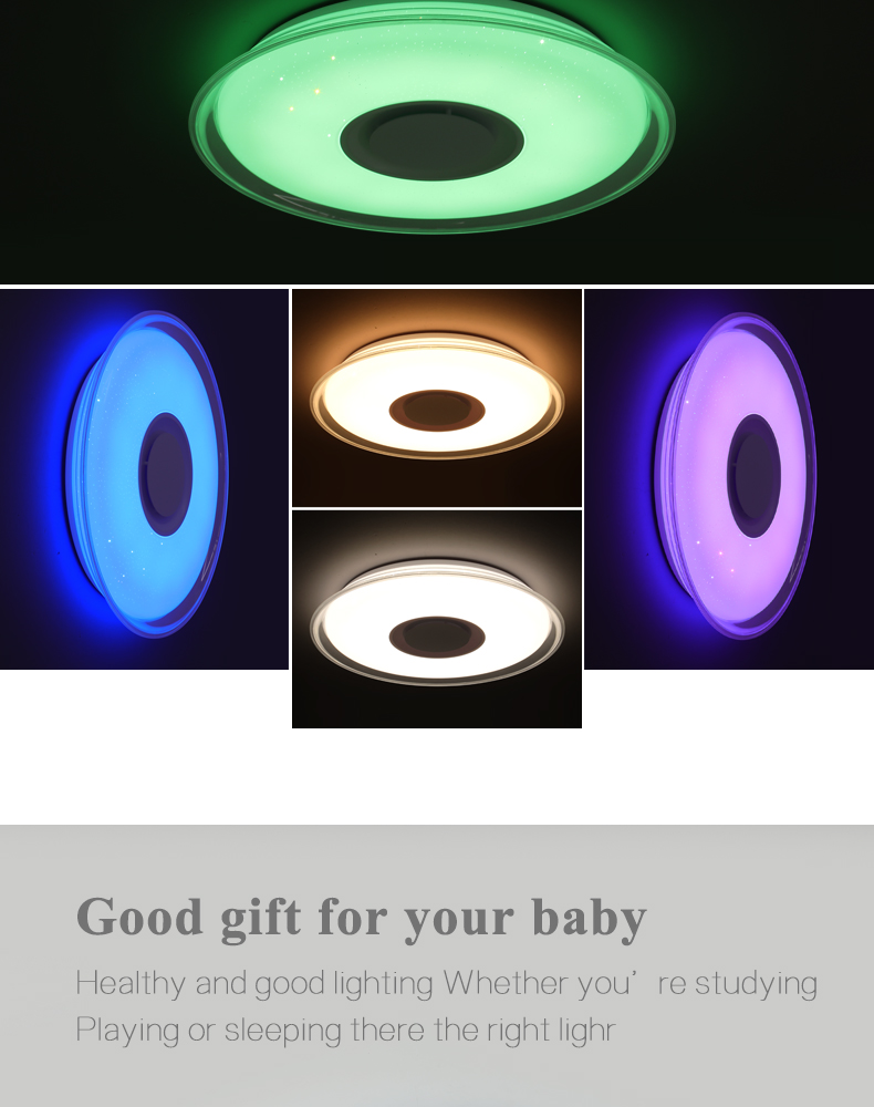 HTB1QpyhboT1gK0jSZFhq6yAtVXa9 Modern LED ceiling Light RGB Remote control 36W 52W ceiling lamp APP Bluetooth Music living room lamps bedroom ceiling+lights