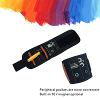 Tool bag five grid super magnetic wristband pocket wrist 15 magnet tool with powerful suction screw nail tool