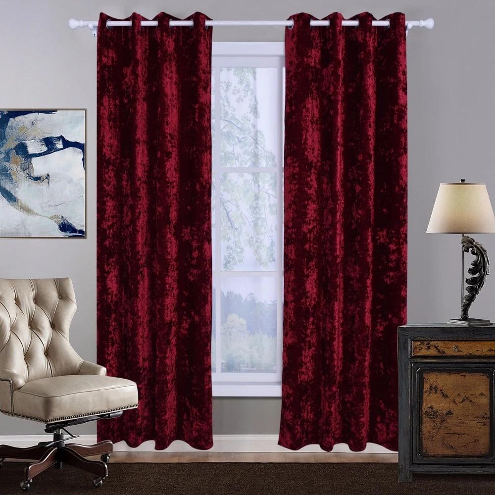 bbj style moderne rideau occultant pour salon solide rouge gris noir polaire brosse tissu rideau pour fenetre