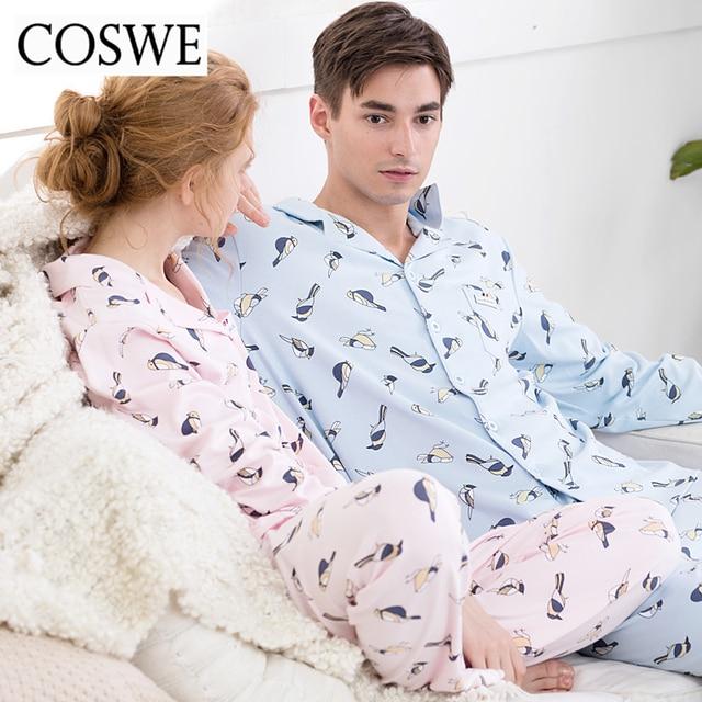 6190b9427a COSWE New Autumn Men Pajama Sets 100% Cotton Mens Pajamas Set Winter Homme Pajamas  Suit Long Mens Pyjamas Man Pijamas Masculinos