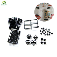 28PCS/SET Poker Card Cookie Cutter Plastic Cupcake Sugarcraft Fondant Set Cake Cutting Mould Decorating Tools