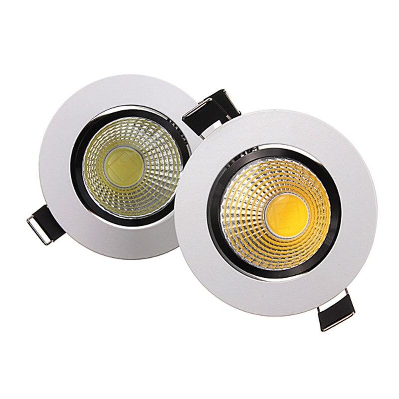 Ac200v dimmable Подпушка свет 6 Вт УДАРА Утопила лампа светильник spot led Подпушка света теплый белый/ холодный белый