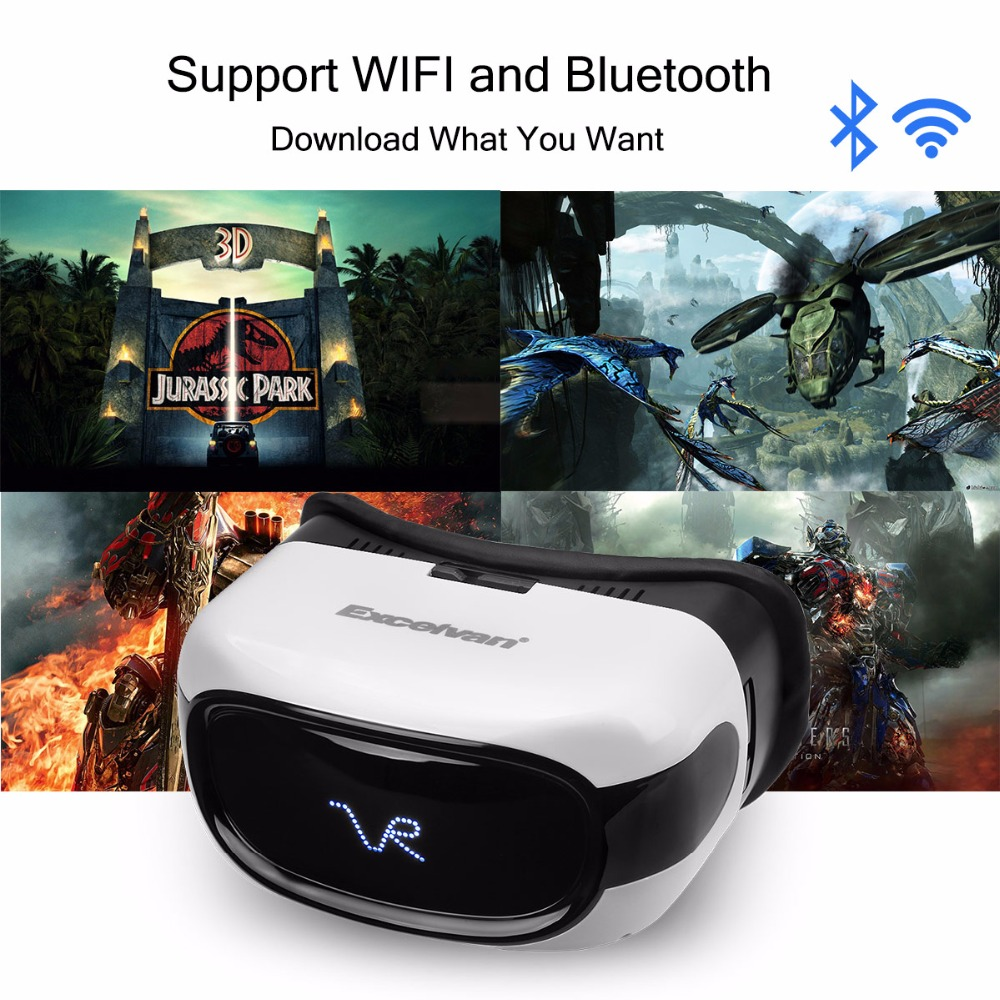 Excelvan A5026 VR Headset HD 3D Virtual Reality Glasses Android 5.1 RK3126 Quad Core 8GB WIFI Bluetooth TF Card Video Player