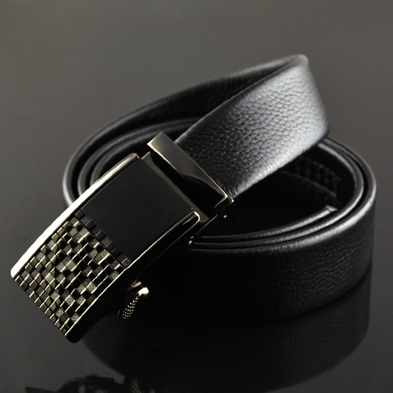 fashion brand mens   belts   for men brand leather   belt   cowskin Automatic buckle business trouser strap pant ceinture homme