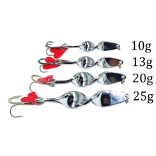 2017 New 4pcs/set Special Spiral Design Spoon Metal Fishing Lures Crank Bait Tackle Spinner Hard Bait Spoon Bass Fishing Lure