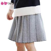 1 5Y 2016 New Fashion Baby Girls Skirt Cute Cotton High Guality Wave Pattern Princess Children