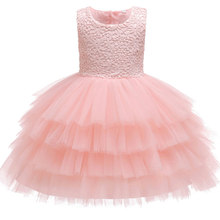 b41a85e27fe6 Infant Girls Baptism Dress Toddler Kids Wedding Christmas Dresses 1 Year  Baby Birthday Party Dresses Outfits Children Clothing