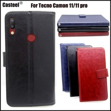 Casteel Classic Flight Series high quality PU skin leather case For Tecno Camon 11 pro Case Cover Shield